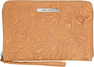 Volcom Women's Palmy Army Leather Wallet Brown