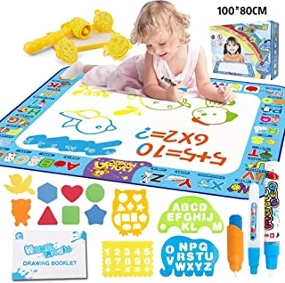SAPU Aqua Magic Doodle Mat 40 X 32 Inches Extra Large Water Drawing Doodling Mat Coloring Mat Educational Toys Gifts for K...