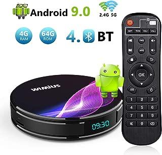 TV Box Android 9.0 4GB RAM 64GB ROM, WiMiUS K1Pro Smart Android TV Box 4K Ultra HD Dual Band WiFi/Bluetooth 4.0 / USB 3.0 / Amlogic S905X2 / H.265 64Bit