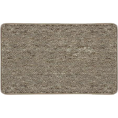 """REFETONE Indoor Doormat, Front Back Door Rug Durable Rubber Backing Non Slip Door Mat Super Absorbent Resist Dirt Entrance Rug Inside Floor Mats Machine Washable Low-Profile - 24""""x 36"""", Coffee"""