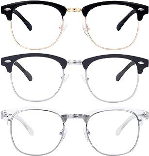 Blue Light Blocking Glasses Women/Men Classic Semi Rimless Glasses Frame Lightweight Blue Light Filter Glasses