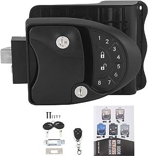 $171 » RV Lock, Fydun RV Keyless Entry Door Lock Handle Latch Keypad Fob with 20M Remote Control Installation Gasket for Caravan ...
