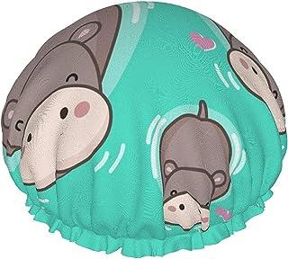 'Happy Three Lovely Cows' wodoodporna czapka prysznicowa z elastycznym obszyciem odwracalna konstrukcja do prysznica czapk...