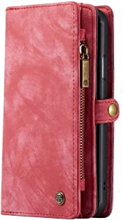 iPhone 11 Pro Max Wallet Case - Detachable Leather Phone Wallet Magnetic Flip Case Shockproof Cell Phone Case with Credit ...