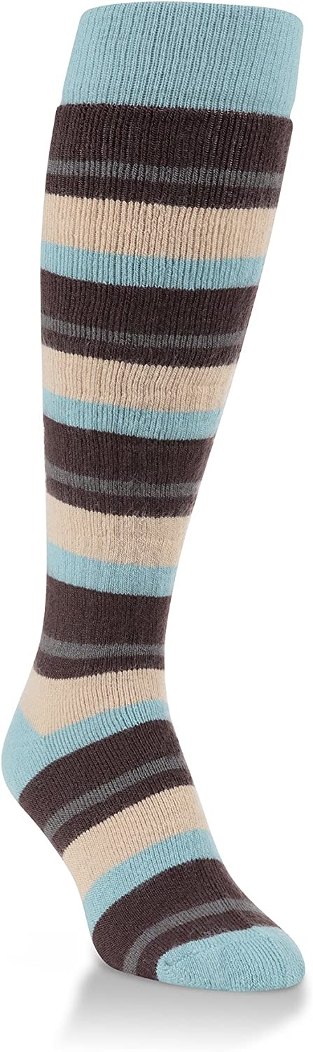 World's Softest Women's Novelty Collection Knee High Socks One Size Fits Most (Cool Stripe)