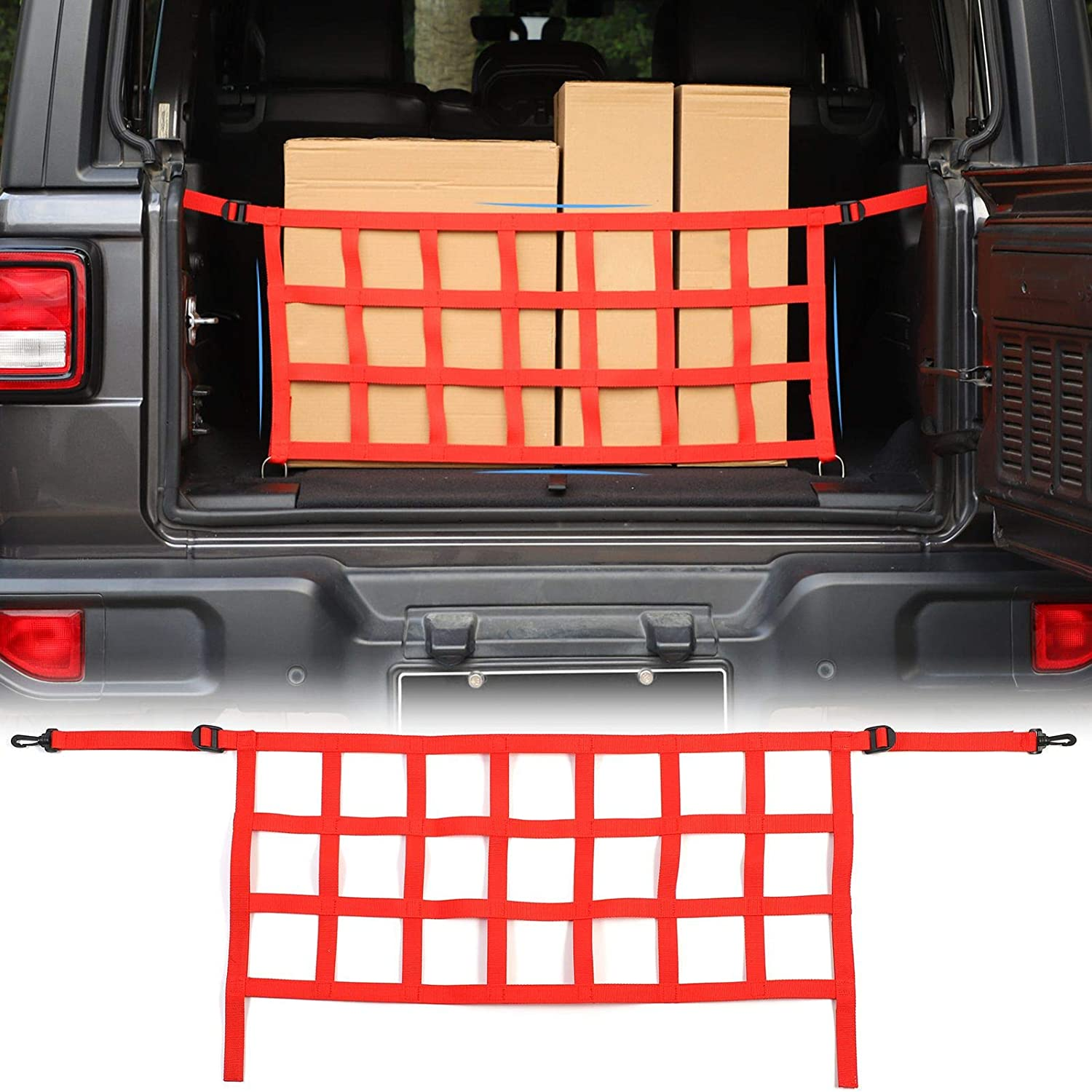Car Trunk Net Mesh Cargo for 2021 autumn and winter new Jeep JLU Inventory cleanup selling sale JL 2018-2021 Wrangler