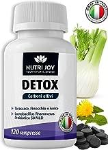 Detox Carbone Attivo [ 120 COMPRESSE ] Drenante Forte Dimagrante Carbone Vegetale | Dimagrire Velocemente | Dimagrante Forte Pancia Piatta | Brucia Grassi Potenti Veloci