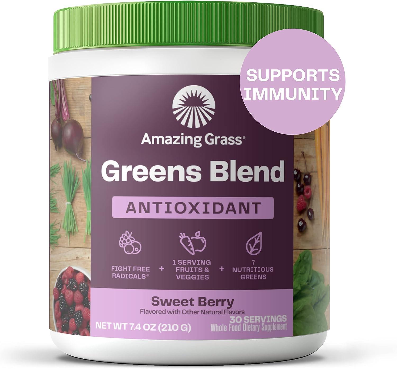 Amazing Grass Green Superfood natürliche Mix aus Kräutern, Gemüse ...