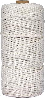 Cuerda de Macramé 3 mm x 100 m Cuerda Cordel de Algodón para Envolver Regalo Navidad Colgar Fotos Manualidades Costura DIY Artesanía