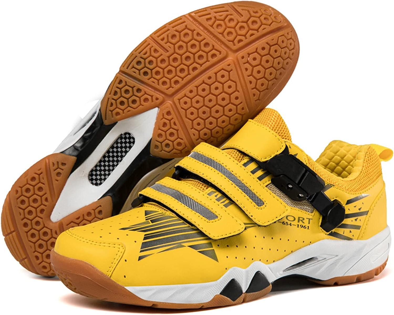 Zapatillas de BáDminton Profesionales,Zapatillas Deportivas Transpirables Antideslizantes, Entrenamiento de Competición, Tenis,Zapatillas de Tenis de Mesa,Yellow-45