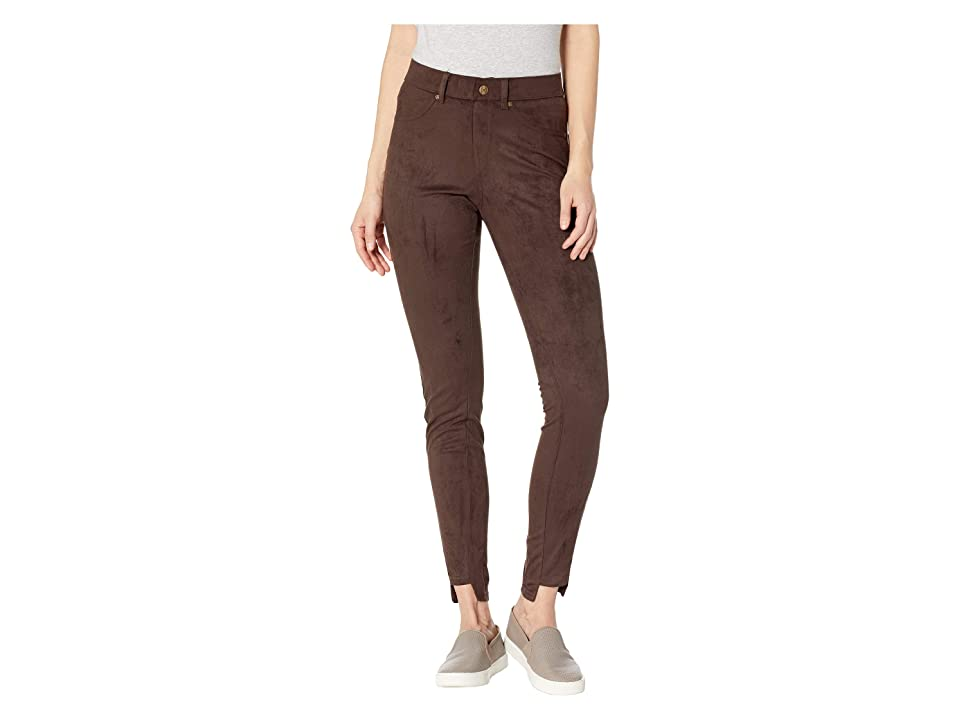 2315d90f4563d HUE High-Low Step Ankle Hem Suede Leggings (Espresso) Women's Casual Pants