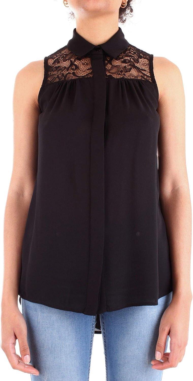 Fracomina Women's FR19SP010black Black Viscose Blouse