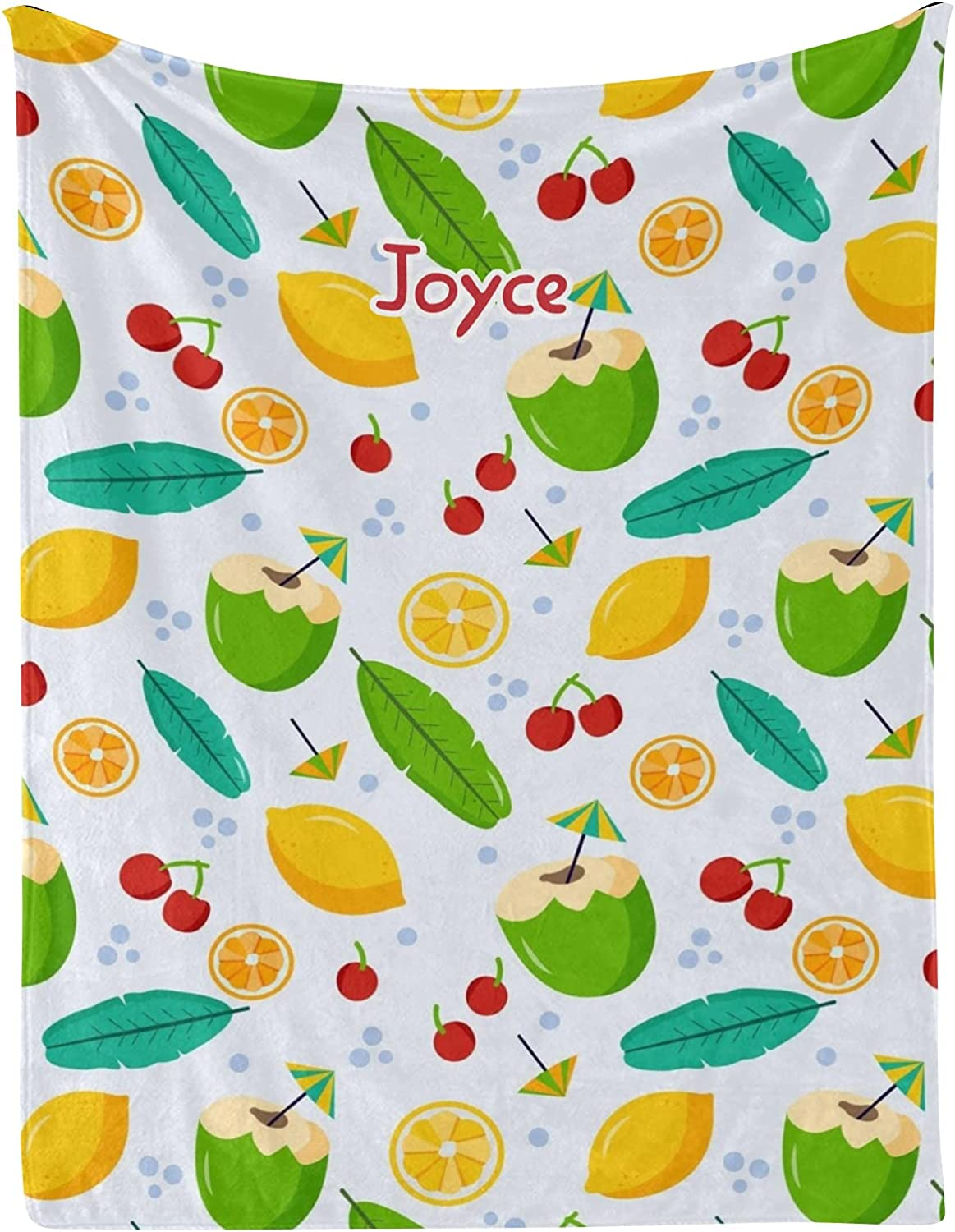 Leaf Cherry Fixed price for sale Lemon Coconut Personalized Blankets 3 with Name Animer and price revision Baby