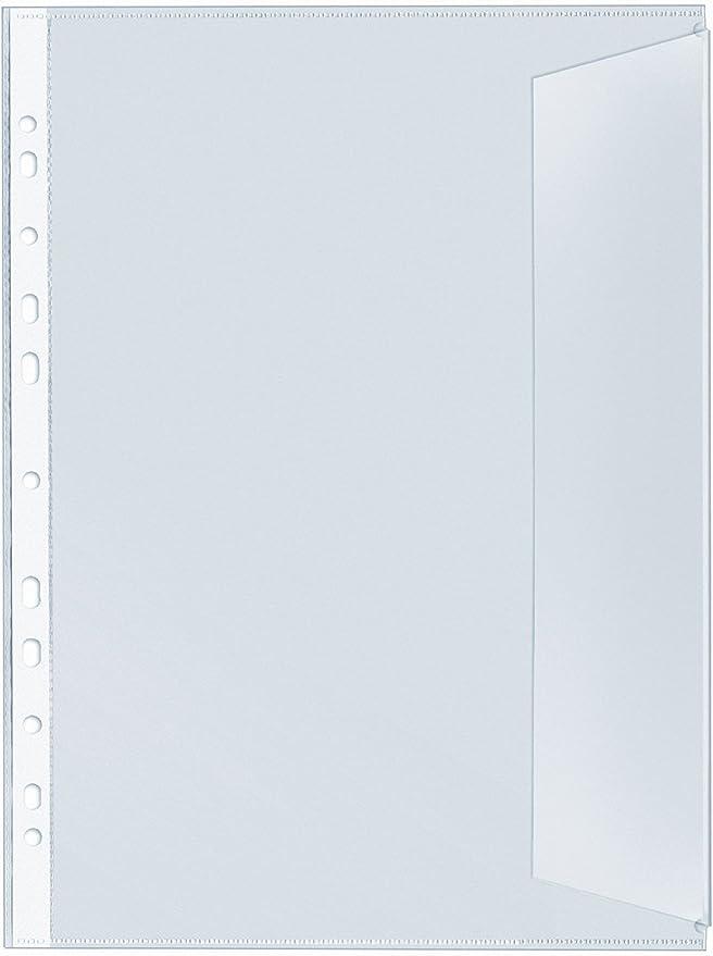 Heftumschlag aus transparenter farbloser PP-Folie VELOFLEX 1351190 Hefth/ülle DIN A5 Querformat 25 St/ück
