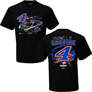 Checkered Flag Kevin Harvick 2021 Mobil 1 Fuel T-Shirt Black