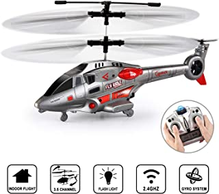 Remote Control Helicopter for Kids, GoStockRC Helicopter Toy with Gyro and LED Light3.5 Channel Alloy Mini Helicopters, Indoor Helicopter with Remote Control for Adults