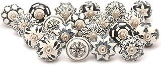 Zahra Premium Quality Assorted Ceramic Knobs- Multi Color Mix Designed Ceramic Cupboard Cabinet Door Knobs Drawer Pulls & ...