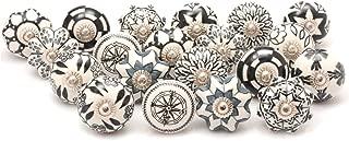 Zahra Premium Quality Assorted Ceramic Knobs- Multi Color Mix Designed Ceramic Cupboard..