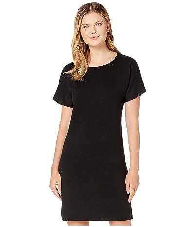 Pendleton Short Sleeve Merino Sweater Dress (Black) Women