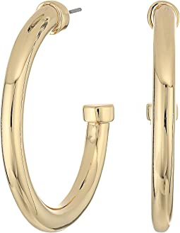 LAUREN Ralph Lauren - Riding High Large Metal 3/4 Hoop Earrings