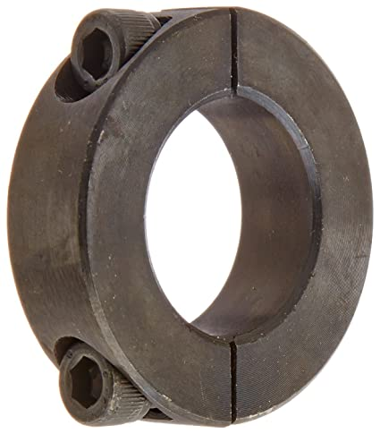 Black Oxide Plating 2 inch bore Mild Steel 11//16 inch Width Climax Part 1C-200 3 inch OD Clamping Collar 5//16-24 x 1 Clamp Screw