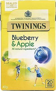 Twinings Blueberry & Apple 2 x 20 woreczki 80 g - borówka, smak jabłka