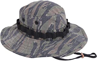 AccessoriesClothing New Tiger Stripe Vietnam Era Military Rip-Stop Wide Brim Boonie Hat with Strap