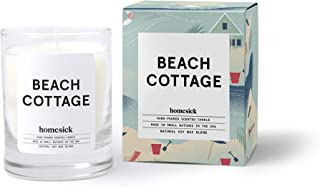 Homesick Mini Scented Candle (10 to 12 hr Burn Time) Home, 1.5 oz, Beach Cottage