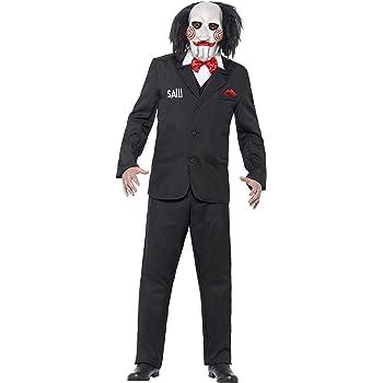 Smiffys-20493L Licenciado Oficialmente Disfraz de Saw Jigsaw, con ...