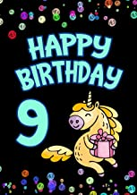 Happy Birthday 9: Keepsake Journal Notebook For Best Wishes, Messages & Doodling