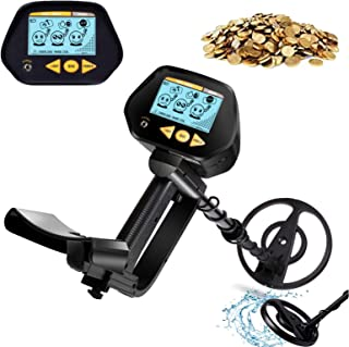 INTEY Metal Detector with Waterproof Search Coil, High Precision, LCD Screen with Headphone Jack, DISC Mode for Detecting ...