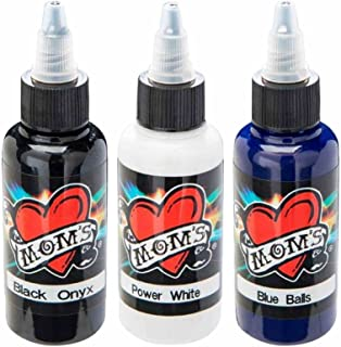 Millennium Mom's Tattoo Ink Set - Black White Blue - 1/2 oz