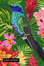 Cornell Notebook: Beautiful Bird & Flowers Composition Notebook College Ruled Notes Taking Journal for Students, Cornell Notes Paper Large Size