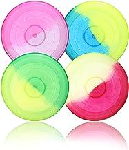 com-four® 4X Frisbee para niños y Adultos - Disco de Lanzamiento para Perros - Disco de Frisbee para Jugar - Disco Volador en Colores Brillantes [la selección varía]