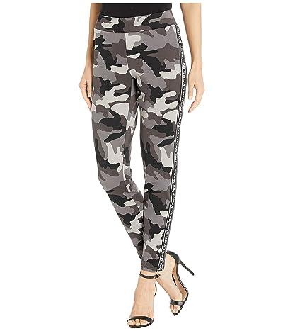 MICHAEL Michael Kors Camo Logo Side Leggings (Gunmetal) Women