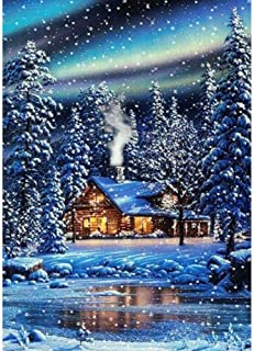 5D Diamond Painting Kit Full Drill,5D Round Full Drill Art Perfect for Relaxation and Home Decor Snow and Room 11.8x15.7in 1 by SimingD