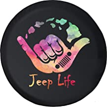 Spare Tire Cover Watercolor - Ocean Life Hawaii (Fits: Jeep Wrangler Accessories, Camper, RV Accessories) Size 33 Inch