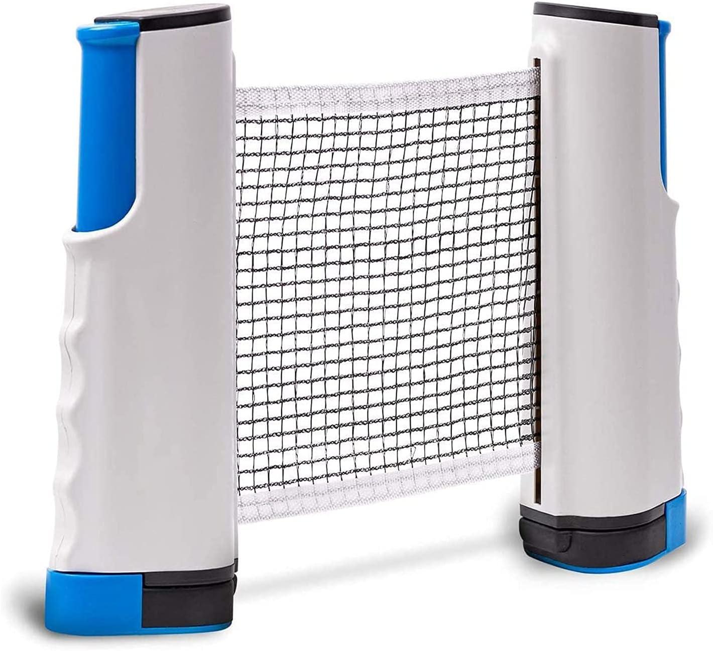 1 Pcs Tenis de Mesa Red, Red de Tenis de Mesa, Red de Ping Pong para Mesa, Red Ping Pong Mesa para Accesorios Deportivos de Interior al Aire Libre Ping Pang, Longitud Ajustable(Gris Azulado)
