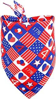 Independence Day 4th of July Decorations Dog Bandana Shamrock Pattern Bibs Scarf for Small Medium Dogs Cats