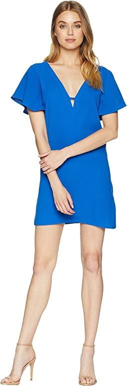0 to 100 Rayon Crepe Deep V Dress