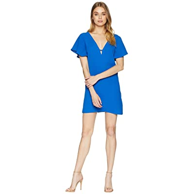 Jack by BB Dakota 0 to 100 Rayon Crepe Deep V Dress (True Blue) Women
