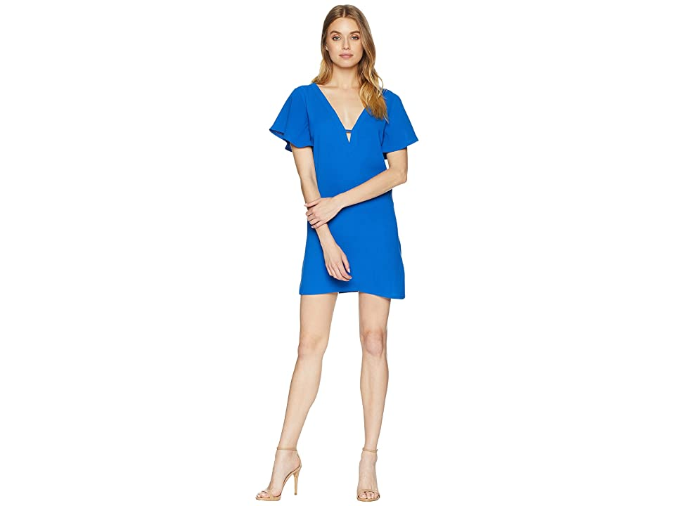 Jack by BB Dakota 0 to 100 Rayon Crepe Deep V Dress (True Blue) Women