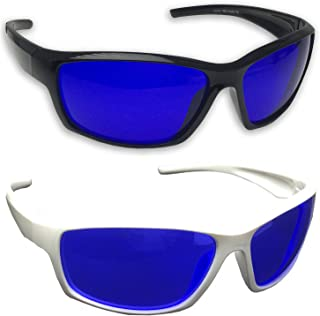grinderPUNCH Tinted Golf Ball Finder Glasses | Sporty Blue Lens, Wrap Around Sunglasses