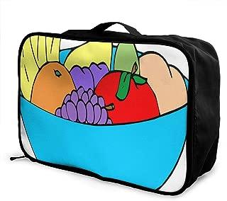 Portable Luggage Duffel Bag Cute Dog Bone Bowl Woof Paw Travel Bags Carry-on In Trolley Handle
