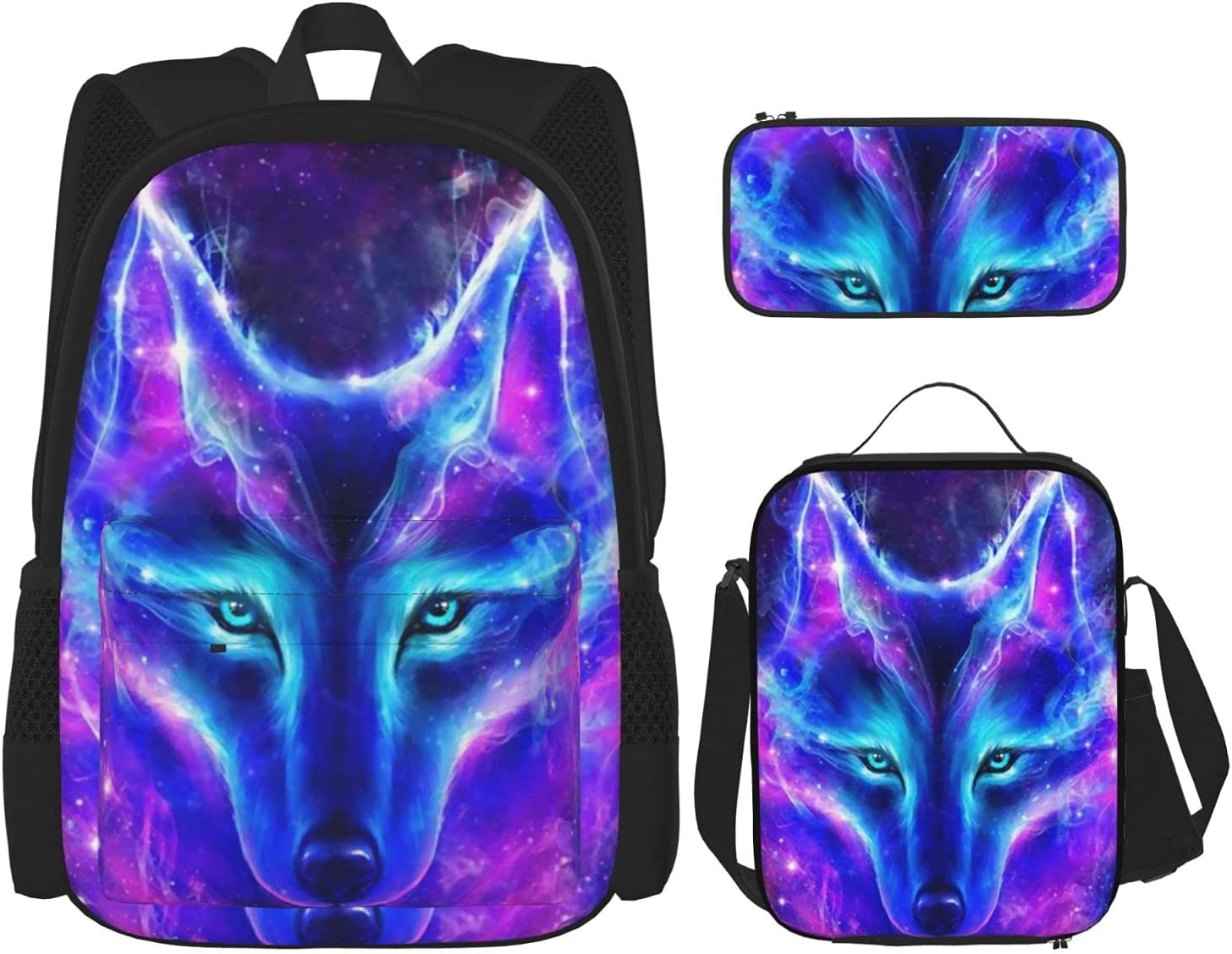 safety Nelife Galaxy Wolf School Finally popular brand Backpack 3 Set Girl For Piece And Boys