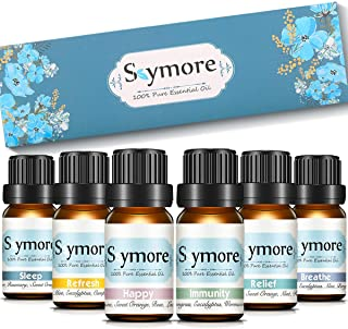 Skymore Top 6 Essential Oil Blend Gift Set, for Diffuser, Best Kit (Sleep, Breathe, Relief, Refresh, Immunity, Happy)