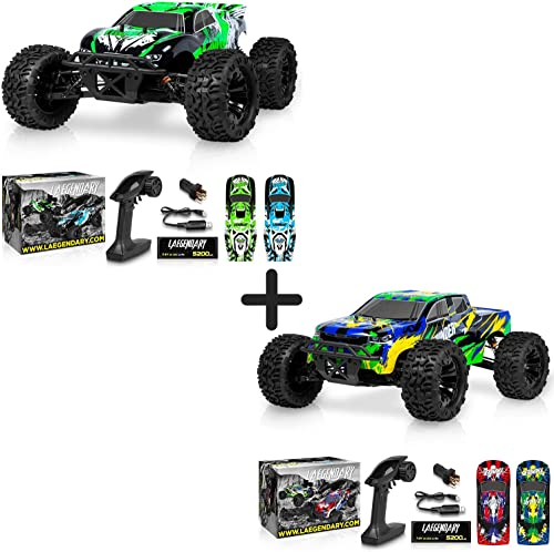 wholesale 1:10 Scale Brushless RC popular Cars 65 km/h Speed Green/Black and 1:10 Scale Brushless RC Cars 65 km/h sale Speed Blue/Yellow - Kids and Adults Remote Control Car 4x4 Off Road Monster Truck Electric - Waterproof outlet online sale