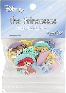 Dress It Up 7745 Disney Button Embellishments, Princess Assortment