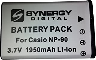Casio Exilim EX-H20G Digital Camera Battery Lithium-Ion (1950 mAh) - Replacement for Casio NP-90 Rechargeable Battery