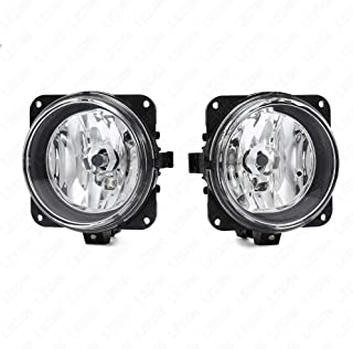 LEDIN Fog Lights for Ford 02-04 Focus SVT, 03-04 Mustang Cobra, 05-07 Escape (OE Style Clear Lens with Switch, Wire)